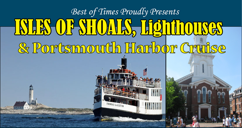 Isle of Shoals & Portsmouth Harbor Cruise | July, August 2018